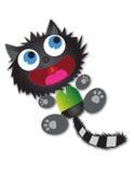 Erschrockene Katze Lizenzfreies Stockfoto