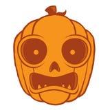 Erschrockene Laterne Halloween-Jack O stock abbildung