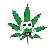 Erschrockene Marihuanakarikatur Stockfotografie