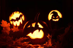 Erschrockener Kürbis Halloween Lizenzfreie Stockfotos
