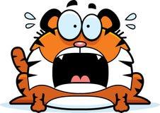 Erschrockener Karikatur-Tiger Lizenzfreies Stockbild