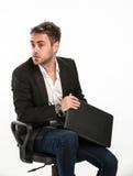 Erschrockener und besorgter Manager Stockfotografie