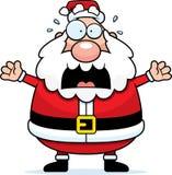 Erschrockener Weihnachtsmann Stockbild