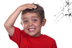 Erschrockenes Kind lizenzfreies stockfoto