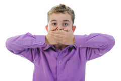 Erschrockenes Little Boy Stockfotos
