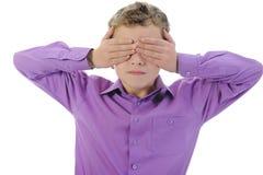 Erschrockenes Little Boy Lizenzfreie Stockbilder