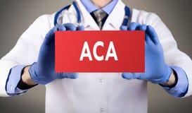 Erschwingliche Sorgfalttat ACA Stockbild
