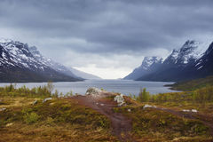 Ersfjord - northern Norway Stock Photo
