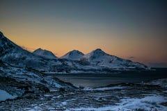 Ersfjordbotn Mountains Royalty Free Stock Photography