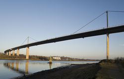 Erskine Bridge. View of Erskine bridge showing its span across the river Clyde between Erskine and Old Kilpatrick. Photographed from the Erskine side of the Royalty Free Stock Photography