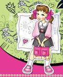 Erst-Formular Mädchen lizenzfreie abbildung