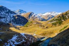 Erstaunliche alpine Landschaft Stockfotografie