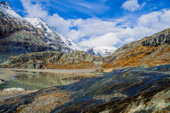 Erstaunliche alpine Landschaft Stockbilder