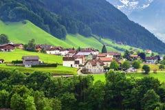 Erstaunliche alpine Landschaft im Bezirk Uri, die Schweiz Stockbild