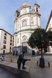 Erstaunliche Ansicht der Basilika von San Miguel in der Stadt von Madrid, Spanien Stockbild