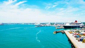 Erstaunliche Ansicht der Stadt Southampton stockbild