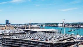 Erstaunliche Ansicht der Stadt Southampton stockbilder