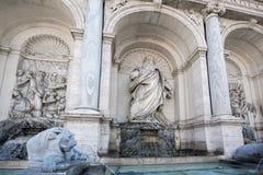 Erstaunliche Ansicht des Brunnens von Moses Fountain Acqua Felice in der Stadt von Rom, Italien Stockfotos