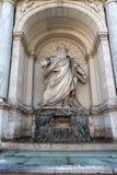 Erstaunliche Ansicht des Brunnens von Moses Fountain Acqua Felice in der Stadt von Rom, Italien Stockfotografie