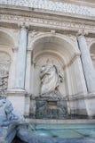 Erstaunliche Ansicht des Brunnens von Moses Fountain Acqua Felice in der Stadt von Rom, Italien Lizenzfreie Stockbilder
