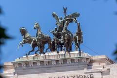 Erstaunliche Ansicht des Gebäudes des Obersten Gerichts der Aufhebung in der Stadt von Rom, Italien lizenzfreies stockbild