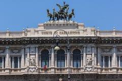 Erstaunliche Ansicht des Gebäudes des Obersten Gerichts der Aufhebung in der Stadt von Rom, Italien stockbild