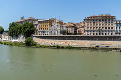 Erstaunliche Ansicht des Obersten Gerichts der Aufhebung und des Tiber-Flusses in der Stadt von Rom, Italien lizenzfreie stockbilder