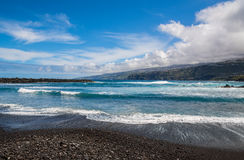 Erstaunliche Ansicht des Strandes in Puerto de la Cruz an einem sonnigen Tag Teneriffa Stockbilder