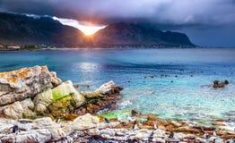 Erstaunliche Ansicht einer Bucht Stockbild
