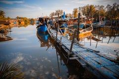 erstaunliche Ansicht von Booten am bachok Kelantan Malsysia Stockfotografie