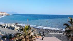 Erstaunliche Ansicht von der Küste von Genua stockfoto