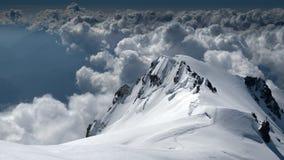 Erstaunliche Ansicht von Mont Blanc lizenzfreie stockfotos