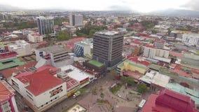 Erstaunliche Ansicht von San Jose in der Tageszeit in Costa Rica stock footage