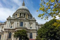 Erstaunliche Ansicht von St Paul Kathedrale herein, London, England Stockfotos