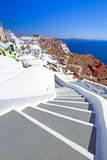 Architektur von Oia-Dorf auf Santorini Insel Lizenzfreies Stockfoto