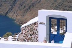 Erstaunliche Aufnahmetür in Santorini Lizenzfreies Stockfoto