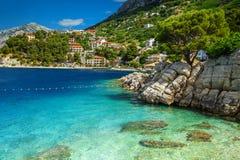 Erstaunliche Bucht und Strand, Brela, Dalmatien-Region, Kroatien, Europa Stockbilder