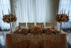 Erstaunliche Dekoration der Tabelle Stockfotos