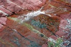 Erstaunliche Farben an der roten Schlucht in Alberta Stockbild