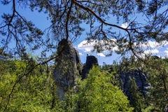Erstaunliche Felsen und Täler in Teplice, tschechischer Repräsentant Lizenzfreie Stockfotografie