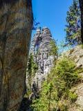 Erstaunliche Felsen und Täler in Teplice, tschechischer Repräsentant Stockbild