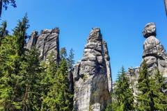 Erstaunliche Felsen und Täler in Teplice, tschechischer Repräsentant Stockfotos