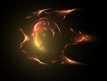 Erstaunliche Feuerkugel lizenzfreie abbildung