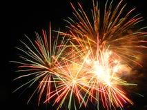 Erstaunliche Feuerwerke stockfotografie