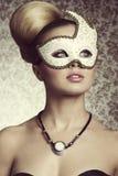 Erstaunliche Frau mit Maske Stockbilder