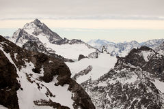 Erstaunliche Gebirgslandschaft von Engelberg, die Schweiz Stockfotos