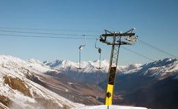 Erstaunliche Gebirgslandschaft von St Moritz, die Schweiz Lizenzfreie Stockbilder