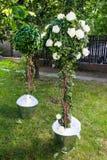 Erstaunliche Hochzeitsdekoration im Garten Lizenzfreies Stockfoto