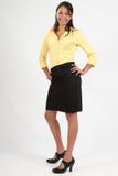 Erstaunliche junge Geschäftsfrau, die überzeugt schaut Lizenzfreie Stockbilder
