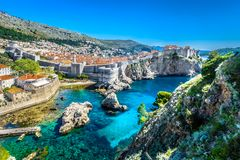 Erstaunliche Landschaft in Marmor-Kroatien, Sommerzeit Lizenzfreies Stockfoto
